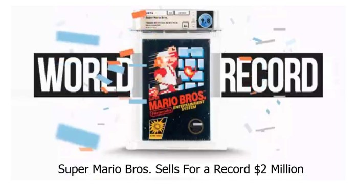 Unopened Copy of Super Mario Bros. Sells For a Record $2 Million