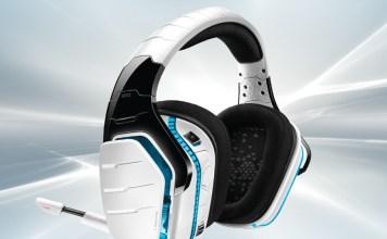 White gaming headset