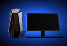 Gaming PC, Monitior, Keyboard, and Mouse