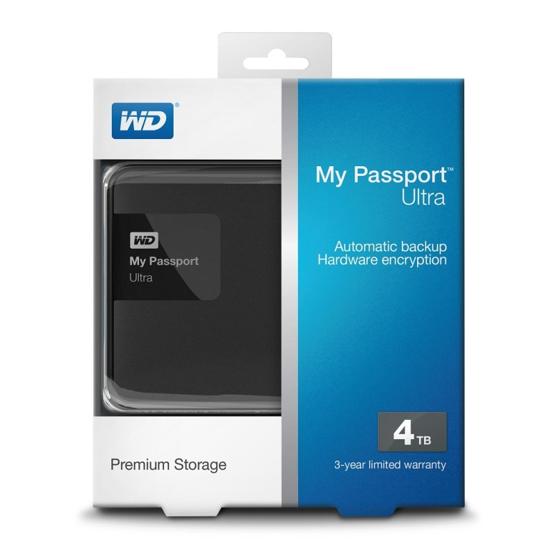 My Passport Ultra 4TB (Classic Black) - 01