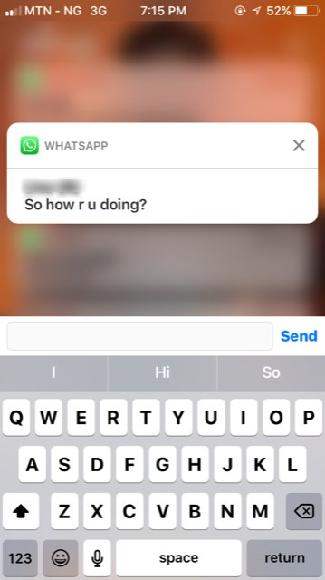 quickly reply messages from the notification tray