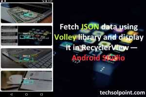 Fetch JSON data using Volley library and display it in RecyclerView — Android Studio