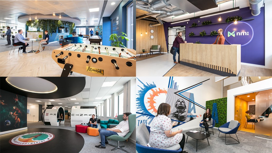 Photos of workplaces designed by Interaction
