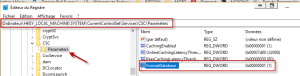 Reset les fichiers hors connexion par le registre