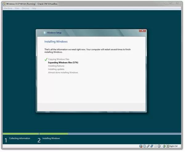 Windows 8 Virtual Machine
