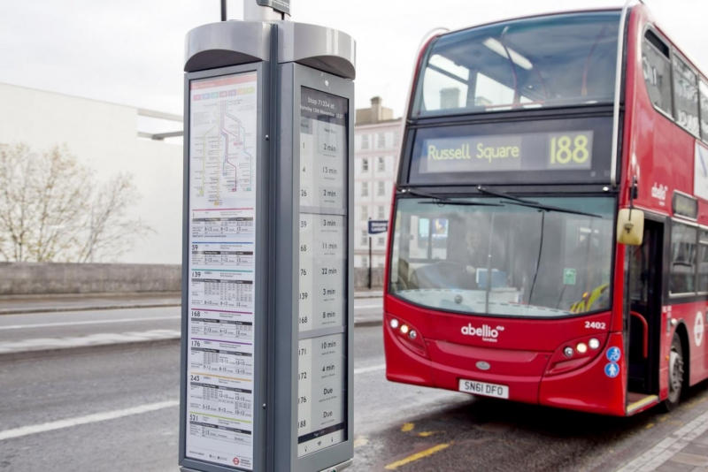 london, electronic ink, public displays, e-ink technology, bus stop