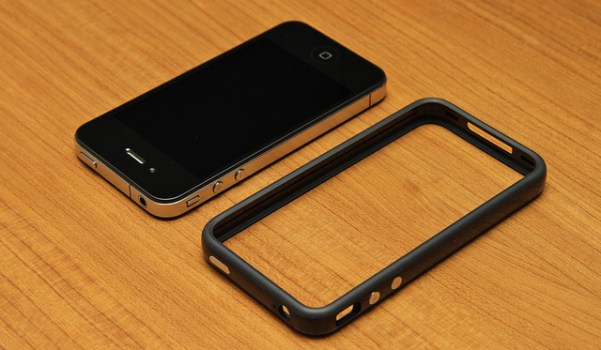 iPhone with bumper case