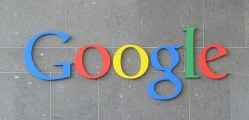Google logo on a bldg