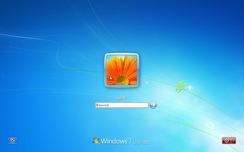 default windows admin account screengrab