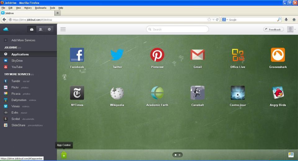 Joli cloud OS screenshot