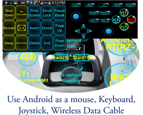 Android-as-Mouse-joystick-Wireless-data-cable-Keyboard-