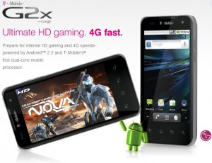 T-Mobile <em>LG G2x</em> Features Specifications