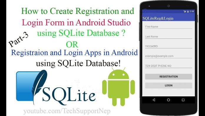Android Login and Register with SQLite Database Tutorial
