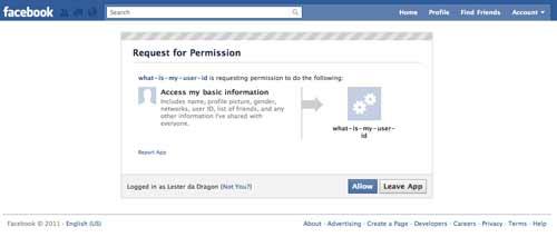 what is my user id facebook app
