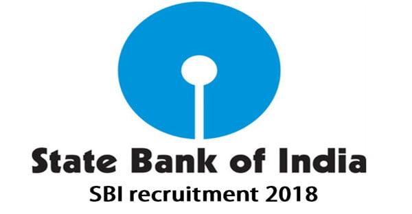 SBI recruitment 2018 apply online