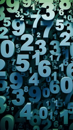 Abstract 3D digits background