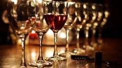 Wine by Candlelight - christmas wallpaper free