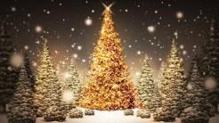 golden tree - hd christmas wallpapers
