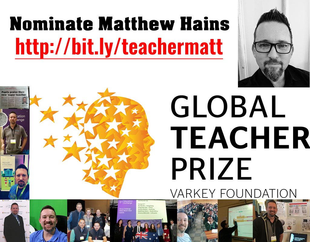 Nominate Matthew Hains for the Global Teacher Award