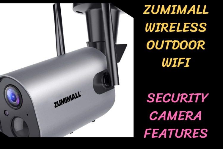 ZUMIMALL Wireless outdoor wifi security camera