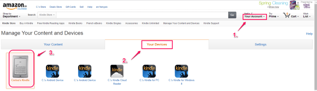 Amazon Your Devices