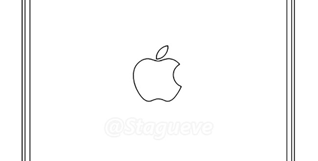 Apple iPad Air 3 drawing with rear LED flash and 4