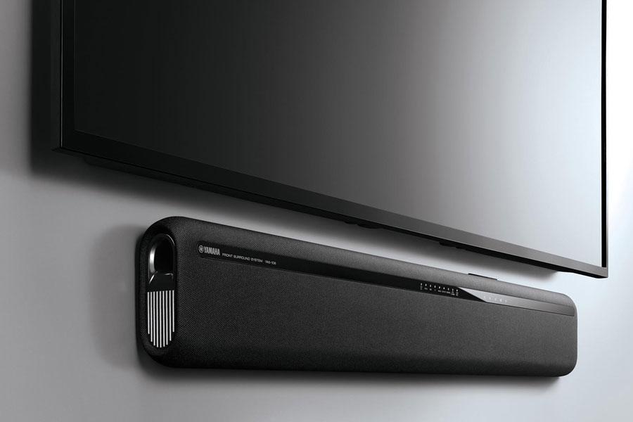 Yamaha YAS-106 Soundbar with Subwoofers. 4K video. Priced at $199