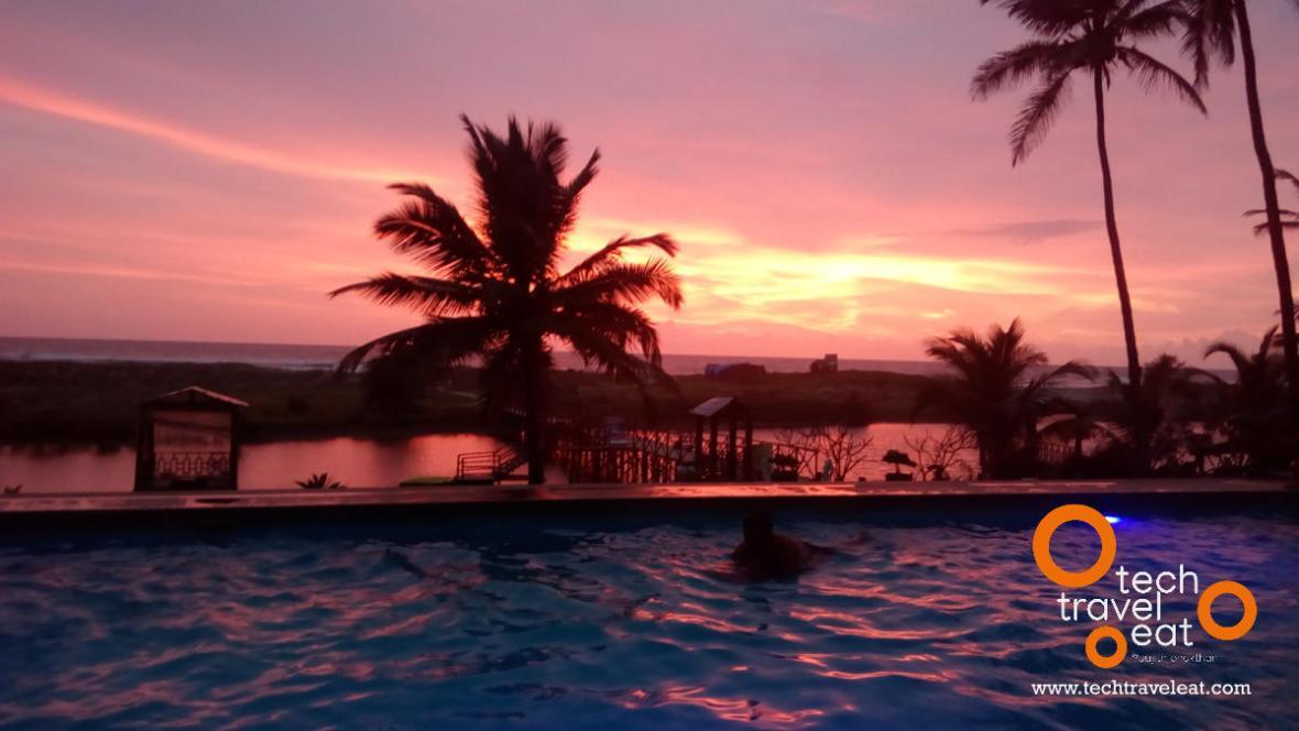 Sun Set from Swimming Pool