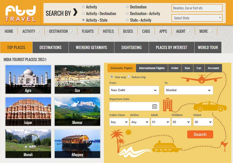 ftd-travels-website