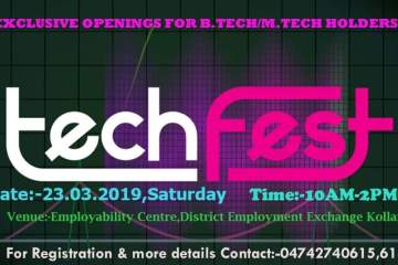 Tech Fest at Employability Centre Kollam on 23rd March 2019