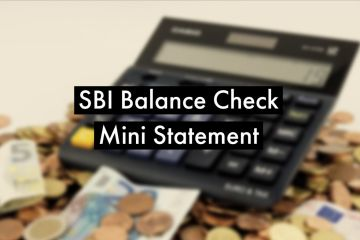 SBI Balance Enquiry and Mini Statememt