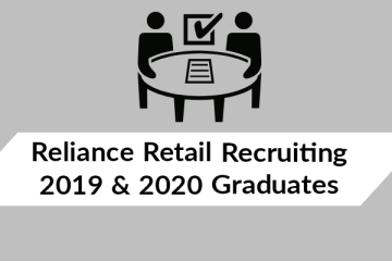Reliance Retail Recruiting 2019 & 2020 Graduates (Any discipline)