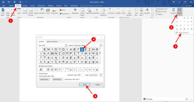 Delta Symbol (Δ or δ): How to Type Delta Sign in Word/Excel