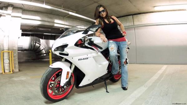 Biker Wallpaper Girl Bike