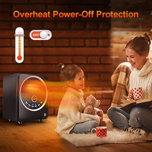 space, heater, indoor, portable, electric, quiet, tip-over, overheating protection, child proof
