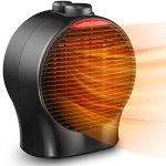 Small Space Heater – Electric Heater Fan Portable Ceramic Heater W/ Thermostat Tip-Over & Overheat Protection Fast Heating, Quiet Personal Heater for Room Office Indoor Use Bedroom Desk