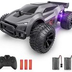 EpochAir Remote Control Car – 2.4GHz High Speed Rc Cars, Offroad Hobby Rc Racing Car with Colorful Led Lights and Rechargeable Battery,Electric Toy Car Gift for 3 4 5 6 7 8 Year Old Boys Girls Kids