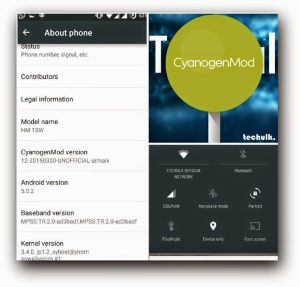 Lollipop for redmi 1s CyanogenMod12