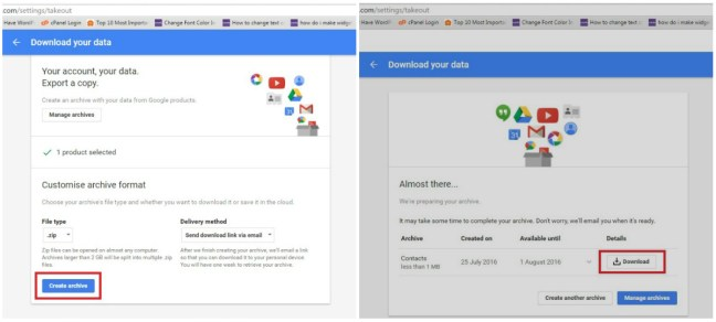 How to get your google synced contacts