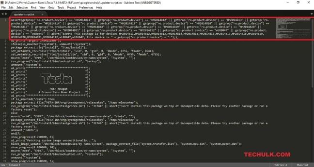 Updater-script file