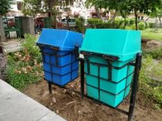 Trash bins