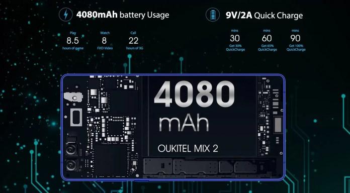 Battery | Oukitel MIX 2 Review