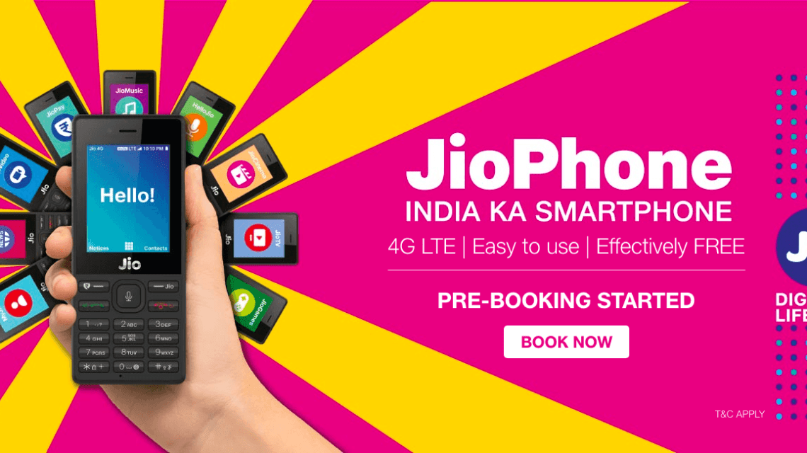 jio Phone online booking process