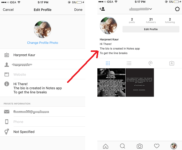 How To Add A New Line In Instagram Bio And Facebook 2020