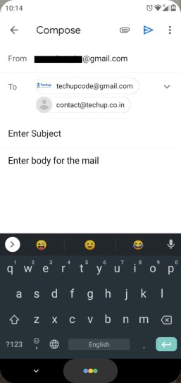 How to send email from react-native application