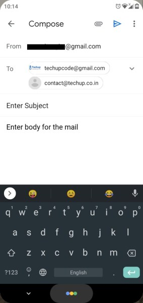 How to send email in react-native application