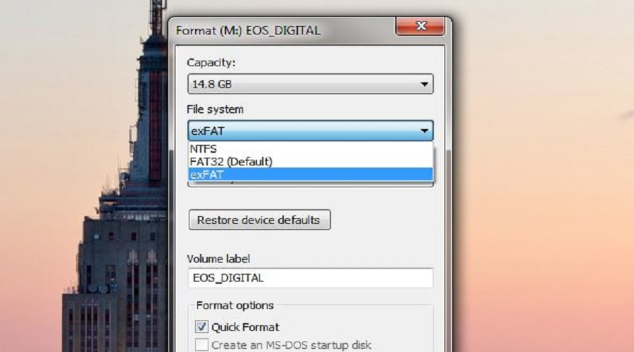 FAT32 vs NTFS vs exFAT