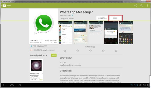 open-whatsapp-on-bluestacks