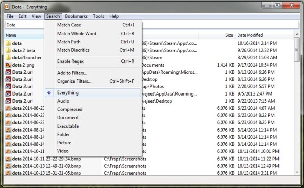 filter-search-results-based-on-filetype-in-windows