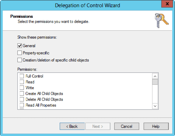 Delegation of Control Wizard 3
